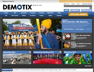 Front page, Demotix