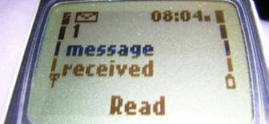 """Ecran telefon """"Mesaj primit"""""""